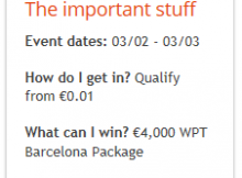 Partypoker 2019 WPT Barcelona Poker Packages